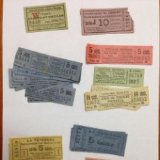 Coleccionismo Billetes de transporte: BILLETES ANTIGUOS DE TRANVIA - CAPICUAS - MAGNÍFICA COLECCIÓN DE 230 BILLETES.. Lote 43399304