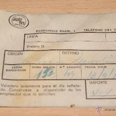 Coleccionismo Billetes de transporte: BILLETE DE AUTOBÚS AUTO RES DE 1975. Lote 43440744