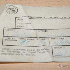 Coleccionismo Billetes de transporte: BILLETE DE AUTOBÚS AUTO RES DE 1975. Lote 43440786