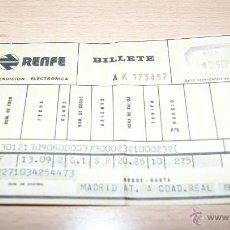 Coleccionismo Billetes de transporte: BILLETE DE RENFE DE 1975 MADRID. Lote 43441023