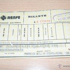 Coleccionismo Billetes de transporte: BILLETE DE RENFE DE 1975 MADRID. Lote 43441069