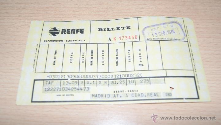 Coleccionismo Billetes de transporte: Billete de Renfe de 1975 Madrid - Foto 3 - 43441069