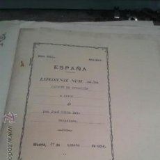 Coleccionismo Billetes de transporte: PATENTE OFICIAL AÑOS 30 TEMATICA FERROCARRILES TRENES INGENIERO D. JOSE CELMA BEL. Lote 43760907