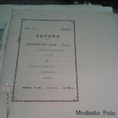 Coleccionismo Billetes de transporte: PATENTE OFICIAL AÑOS 30 TEMATICA FERROCARRILES TRENES INGENIERO D. JOSE CELMA BEL. Lote 43761111