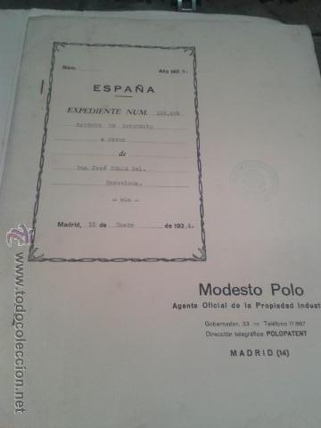 PATENTE OFICIAL AÑOS 30 TEMATICA FERROCARRILES TRENES INGENIERO D. JOSÉ CELMA BEL (Coleccionismo - Billetes de Transporte)