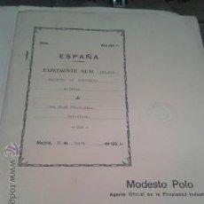 Coleccionismo Billetes de transporte: PATENTE OFICIAL AÑOS 30 TEMATICA FERROCARRILES TRENES INGENIERO D. JOSÉ CELMA BEL. Lote 43761126