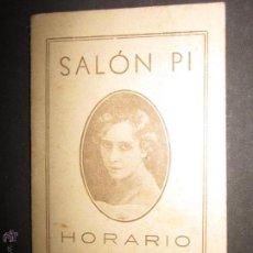 Coleccionismo Billetes de transporte: HORARIO TRENES AÑO 1934 - SALON PI - CON CALENDARIO ....- VER FOTOS ADICIONALES -(V-749). Lote 43772721