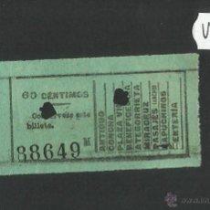 Coleccionismo Billetes de transporte: BILLETE TRANVIA SAN SEBASTIAN - MUY ANTIGUO - (V-1137). Lote 44389865