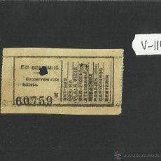 Coleccionismo Billetes de transporte: BILLETE TRANVIA SAN SEBASTIAN - MUY ANTIGUO - (V-1144). Lote 44390084
