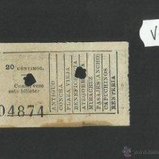 Coleccionismo Billetes de transporte: BILLETE TRANVIA SAN SEBASTIAN - MUY ANTIGUO - (V-1145). Lote 44390108