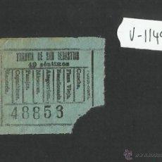 Coleccionismo Billetes de transporte: BILLETE TRANVIA SAN SEBASTIAN - MUY ANTIGUO - (V-1149). Lote 44390142