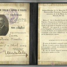 Coleccionismo Billetes de transporte: INTERVENCION DEL ESTADO EN FERROCARRILES - AÑO 1932 - (V-1174). Lote 45173034