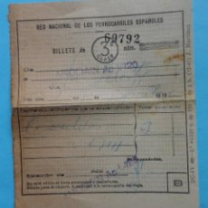 Coleccionismo Billetes de transporte: BILLETE 3ª CLASE. FERROCARRILES ESPAÑOLES. AÑO 1966. Lote 45684559
