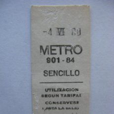 Coleccionismo Billetes de transporte: BILLETE METRO DE MADRID . 4.6.1980. Lote 45893541