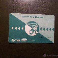 Coleccionismo Billetes de transporte: TARGETA TRANVIA DIAGONAL BARCELONA- EDICIÓN LIMITADA. Lote 46009383