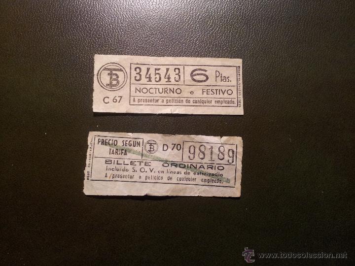 2 BILLETES ANTIGUOS TRANVIA BARCELONA- CAPICUA (Coleccionismo - Billetes de Transporte)