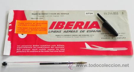 Antiguo billete de iberia a os 70 espa a l ne comprar for Billetes de avion baratos barcelona paris