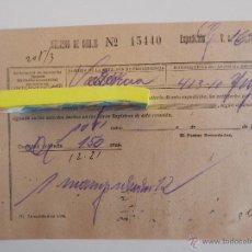 Coleccionismo Billetes de transporte: HOJA DE LA RED NACIONAL DE LOS FERROCARRILES ESPAÑOLES. DIVISIÓN COMERCIAL, SERVICIO DE INTERVENCIÓN. Lote 46906723