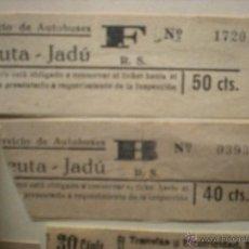 Coleccionismo Billetes de transporte: BILLETE AUTOBUS CEUTA-JUDÚ. Lote 46950323