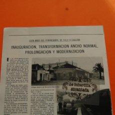 Coleccionismo Billetes de transporte: ARTICULO 1978 - 100 AÑOS FERROCARRIL SILLA A CULLERA ESTACION SUECA - 50 AÑOS INAGURACION CANFRANC. Lote 231210435