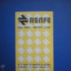 Coleccionismo Billetes de transporte: BILLETE RENFE HUGIN. Lote 47099488