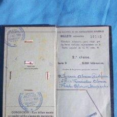Coleccionismo Billetes de transporte: BILLETE KILOMETRICO DE TRANSPORTE 1958. Lote 47265167