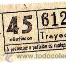 Coleccionismo Billetes de transporte: BILLETE TRANVÍA DE BARCELONA \ 45 CTS \ TRAYECTO 1 \ CAPICUA. Lote 48217273