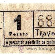Collectionnisme Billets de transport: BILLETE TRANVÍA DE BARCELONA \ 1 PTA \ TRAYECTO 2 \ CAPICUA. Lote 48289062