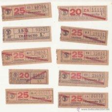 Coleccionismo Billetes de transporte: ANTIGUO DIEZ BILLETES CAP Y CUA TRANVIA DE BARCELONA TRAYECTO 1 - 2 CAPICUA. Lote 48306915