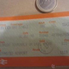 Coleccionismo Billetes de transporte: LONDRES BILLETE TICKET TREN AEROPUERTO. Lote 48320169