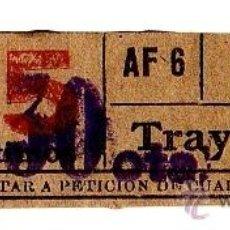 Coleccionismo Billetes de transporte: BILLETE TRANVÍA DE BARCELONA \ 15 CTS (RESELLO 30 CTS) \ TRAYECTO 1 \ CAPICUA. Lote 48321885