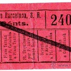 Coleccionismo Billetes de transporte: BILLETE TRANVÍAS DE BARCELONA \ VARIOS TRAYECTOS \ 10 CTS \ CAPICUA. Lote 48352202