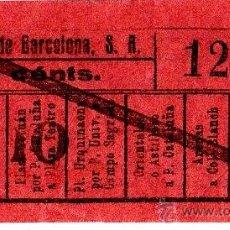 Coleccionismo Billetes de transporte: BILLETE TRANVÍAS DE BARCELONA \ VARIOS TRAYECTOS \ 10 CTS \ CAPICUA. Lote 48352425