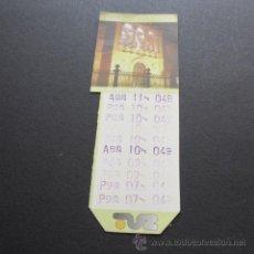 Coleccionismo Billetes de transporte: TARJETA BONO BUS ZARAGOZA. Lote 48756400