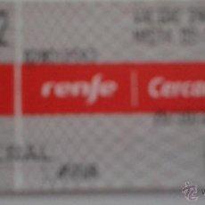 Coleccionismo Billetes de transporte: BILLETE RENFE CERCANIAS. Lote 48910183