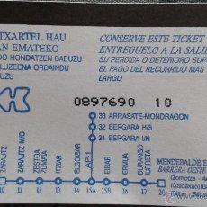Coleccionismo Billetes de transporte: TICKET AUTOPISTA. Lote 49038651