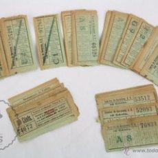 Coleccionismo Billetes de transporte: CONJUNTO DE 98 ANTIGUOS BILLETES DE TRANVÍAS DE BARCELONA - TIANA, MONGAT... - TIPO EDMONSON. Lote 49221992