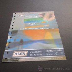 Coleccionismo Billetes de transporte: BILLETE ALSA CONTINENTAL AUTO ALSINA GRAELLS AÑO 2007 MADRID - BARCELONA. Lote 49268984