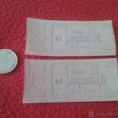 Coleccionismo Billetes de transporte: LOTE DE 2 BILLETE TICKET ENTRADA TRANSPORTE E. M. T. MADRID 1967 A IDENTIFICAR IDEAL COLECCION ESCAS. Lote 49369637