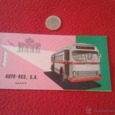 Coleccionismo Billetes de transporte: BILLETE TICKET ENTRADA DE TRANSPORTE O SIMILAR AUTO-RES LINEAS REGULARES DE VIAJEROS VALENCIA MADRID. Lote 49398088