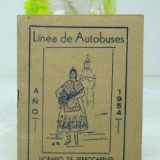 Coleccionismo Billetes de transporte: LINEA DE AUTOBUSES , HORARIO DE FERROCARRILES 1954 . Lote 49446700