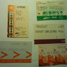 Coleccionismo Billetes de transporte: LOTE BILLETES TREN.--RENFE Y FERROCARRILES GENERALITAT.-. Lote 49602158