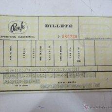 Coleccionismo Billetes de transporte: BILLETE TREN - RENFE - MADRID A IRUN - 1972 - VIAJES VINCIT. Lote 49749550