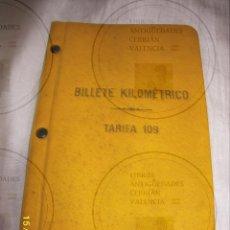 Coleccionismo Billetes de transporte: -TRENES-BILLETE KILOMETRICO TARIFA 109 SERIE 1 CLASE 1ª 1930. Lote 49874612
