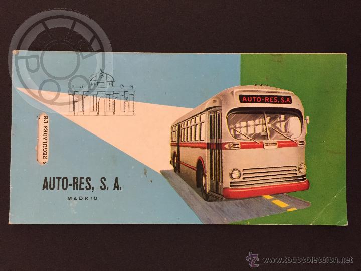 BILLETE DE TRANSPORTE, AUTO RES, MADRID (Coleccionismo - Billetes de Transporte)