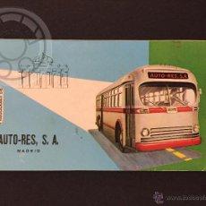Coleccionismo Billetes de transporte: BILLETE DE TRANSPORTE, AUTO RES, MADRID. Lote 49909607