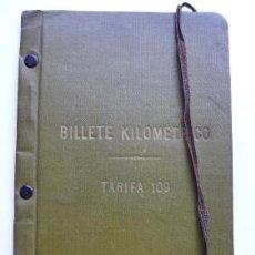Coleccionismo Billetes de transporte: BILLETE KILOMÉTRICO. TARIFA 109. 31 DICIEMBRE 1918. NÚM. 1962. 2A CLASE, SERIE 2. 4.000 KILÓMETROS. Lote 49985980
