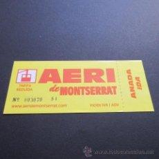 Coleccionismo Billetes de transporte: BILLETE AEREO MONTSERRAT ANADA IDA. Lote 50313569