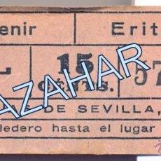 Coleccionismo Billetes de transporte: ANTIGUO BILLETE TRANVIAS DE SEVILLA, PORVENIR - ERITAÑA. Lote 50646856