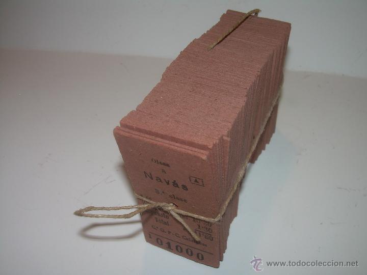 PAQUETE PRECINTADO CON PLOMO DE 100 BILLETES DE OLESA A NAVAS..........DEL Nº. 1.000 AL 1.099 (Coleccionismo - Billetes de Transporte)